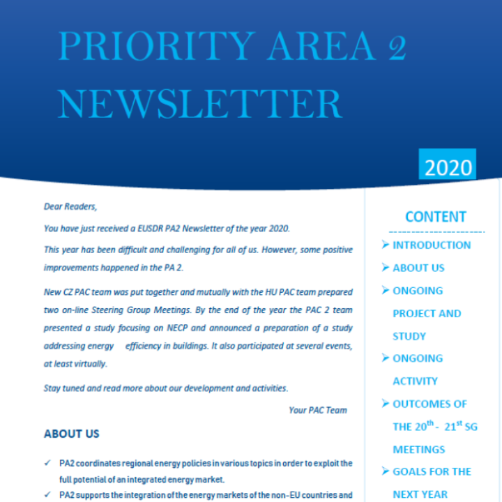 The latest newsletter of Piority Area 2 is available