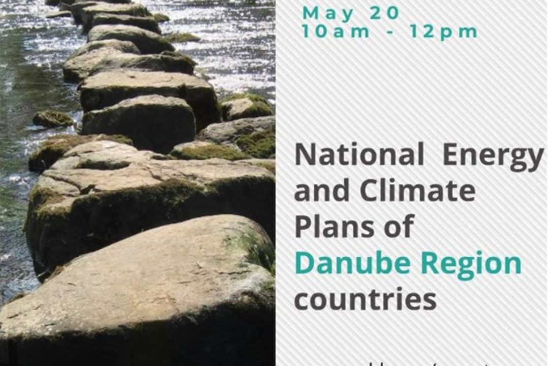 PA2 organized two webinars about the National Energy and Climate Plans of the Danube Region countries
